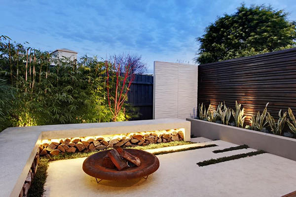 Ogrody nowoczesne new garden style design and construction for Courtyard designs melbourne