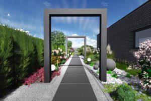 NGS12-1-Modul-ogrodowy-ciag-komunikacyjny-wzdluz-ogrodzenia-projekty-ogrodow-ogrody-nowoczesne-gotowe-New-Garden-Style-300x200