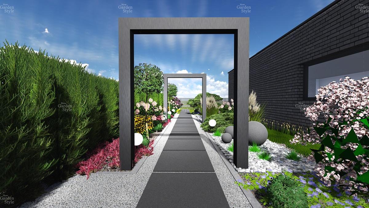 NGS12-1-Modul-ogrodowy-ciag-komunikacyjny-wzdluz-ogrodzenia-projekty-ogrodow-ogrody-nowoczesne-gotowe-New-Garden-Style