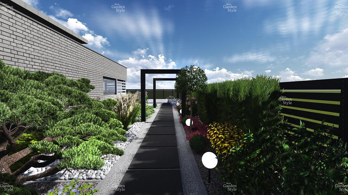 NGS12-2-Modul-ogrodowy-ciag-komunikacyjny-wzdluz-ogrodzenia-projekty-ogrodow-ogrody-nowoczesne-Projekty-gotowe-New-Garden-Style
