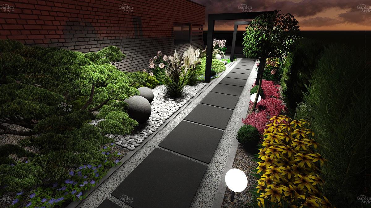 NGS12-4-Moduly-ogrodowe-projekty-gotowe-ogrody-nowoczesne-ciag-komunikacyjny-wzdluz-ogrodzenia-New-Garden-Style